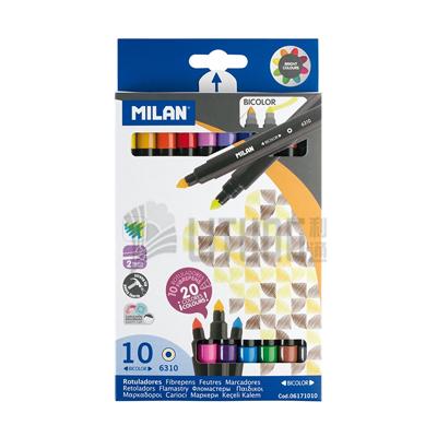 Milan 20色10枝兩頭粗水筆