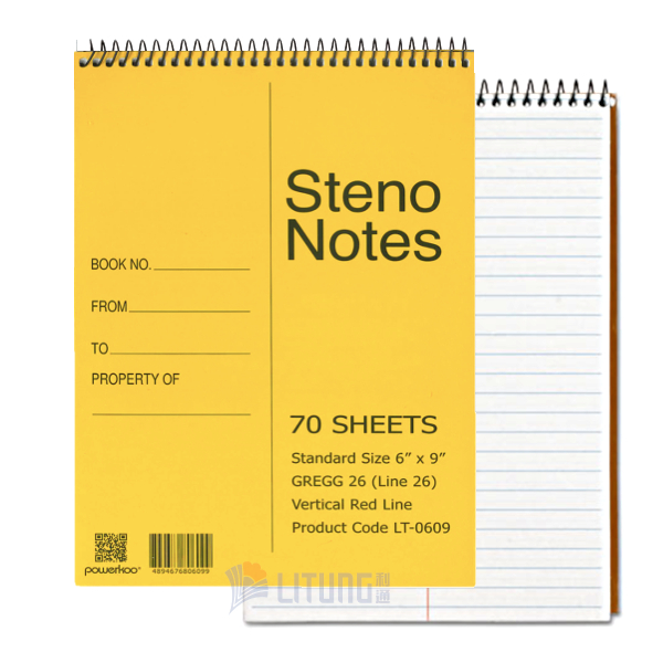 PowerkooLT06091 Steno Notes6LTLogo00x600