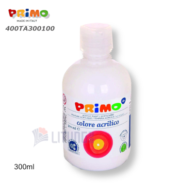 Primo 400TA300100 Acrylic Paint 300mll White LTLogo 400x400