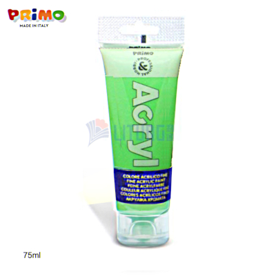 Primo 420TAF75610 RB Fine Acrylic Paint 75ml, Fluo Green LTLogo 400x400.