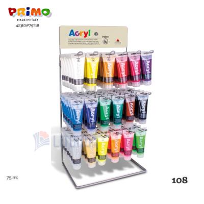 Primo 423ESP75T18 Metallic Display for 108 Tubes Acrylic Colors 75ml Rack LTLogo 400x400