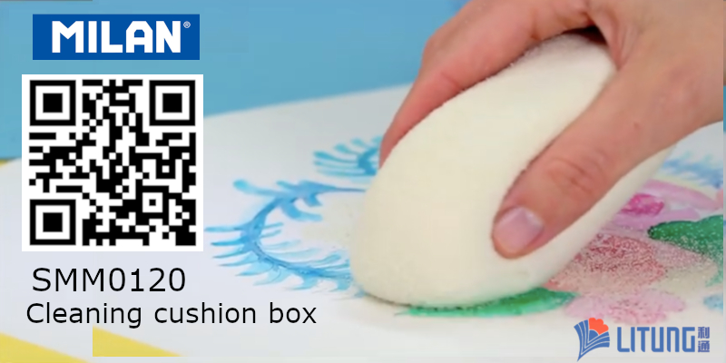 Milan SMM0120 Cleaning cushion box w QR Code 800x400