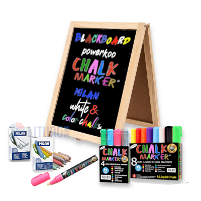 powerkoo BBA01 WEb 4 A形雙面小黑板 w Chalk Front LTLogo 400x400