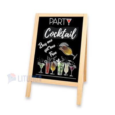 powerkoo BBA01 WEb 5 A形雙面小黑板 w Cocktail Drawing Front LTLogo 400x400
