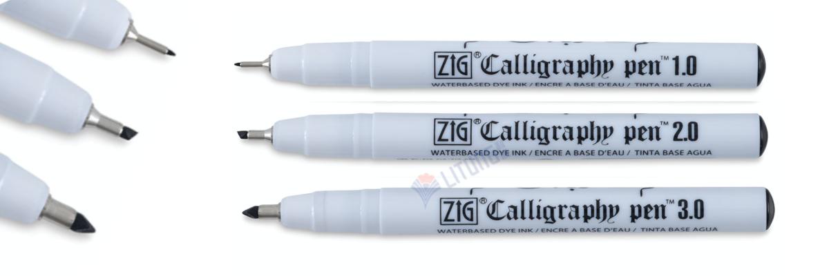 ZIG PC3VBK Calligraphy Pens w Tips LTLogo1600x400