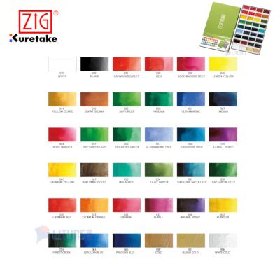 ZIG MC2036V web B New packing Gansai Tambi 36 colors Chart LTLogo 400x400