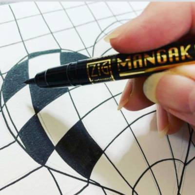 ZIG CNM015V mangaka flexible B&W Drawing B 400x400