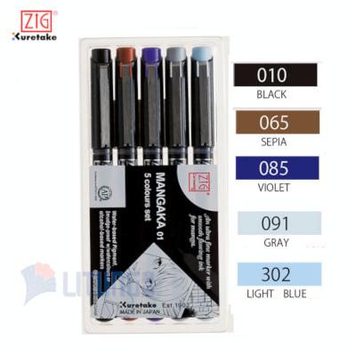 ZIG CNM015V web A mangaka flexible 5 colors Packing w color chart LTLogo 400x400