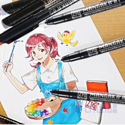 ZIG CNM015V web D mangaka flexible 5 colors w Cartoons LTLogo 400x400