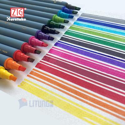 ZIG TC3100V12 web D Calligraphy II Marker Set of 12 Color Chart Pens LTLogo(NR) 400x400