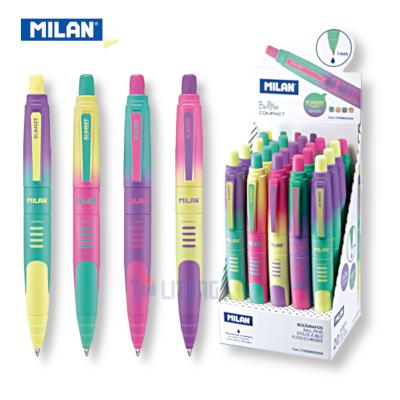 Milan 176568920SN web A幻彩版藍色原子筆 Box w 4 pens LTLogo 400x400
