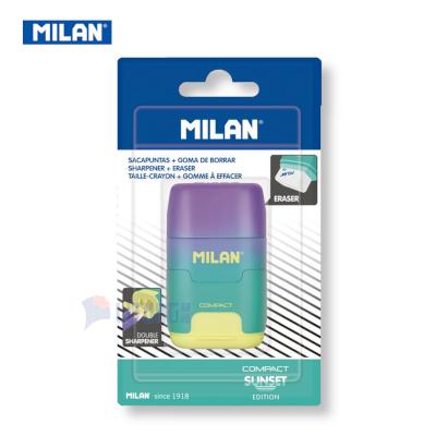 Milan BYM10424 web A 幻彩系列 鉛筆刨+擦膠 yellow w packing LTLogo 400x400