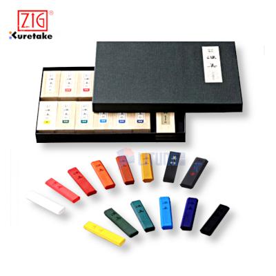 ZIG AK814 web C 吳竹彩墨深美14色墨條盒裝 Box w color Blocks LTLogo 400x400