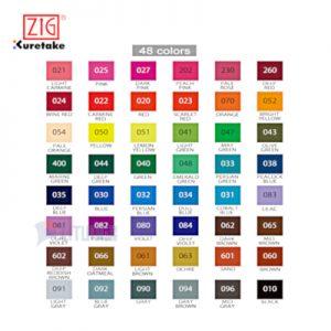 ZIG CBK55N48V web B FUDEBIYORI 日和毛筆48色套裝 Color Chart 400x400