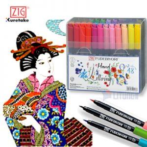ZIG CBK55N48V web E FUDEBIYORI 日和毛筆 w Japanese Girl 400x400