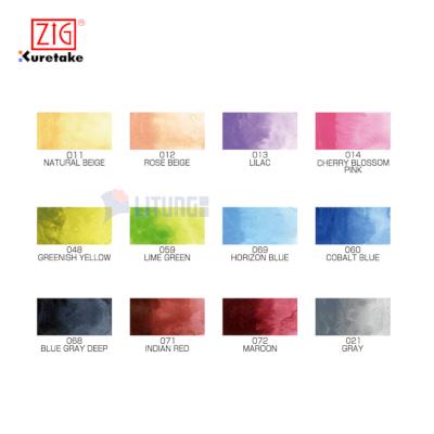 ZIG MC2012VNW web B Kuretake Gansai Tambi 12 Color Set II color chart LTLogo 400x400